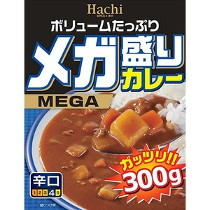 ハチ食品 メガ盛りカレー 辛口 300gの関連商品9