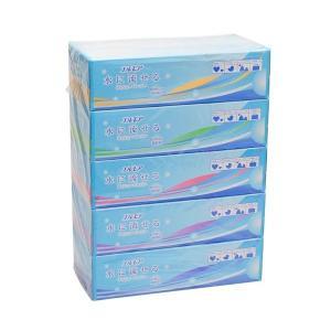 【お一人様1個限り特価】エルモア 水に流せるティシューペーパー 360枚(180組)×5箱