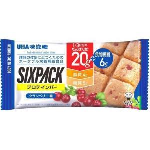 UHA味覚糖 SIXPACK プロテインバー クランベリー味 1個|himejiryutsuu