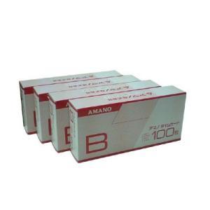 アマノ(標準)Bカード タイムカード 4箱セット(100枚/箱) |himejiya