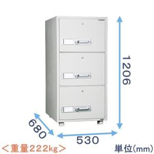 耐火キャビネット(DSF680-3K) メーカー:ダイヤセーフ|himejiya