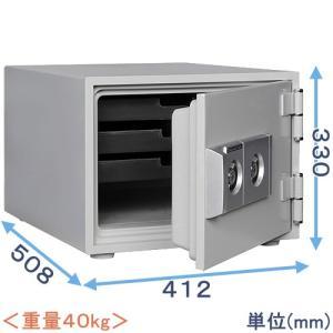 金庫 小型 家庭用 2キー式耐火金庫(DW30-S)|himejiya