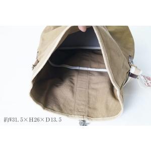 ショルダーバッグ 帆布工房 口折れ 3x34  斜め掛けバッグ 男女兼用|himeka-wa-samue|05
