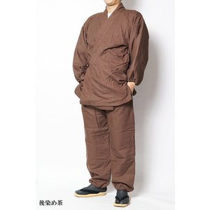 作務衣 冬用 先染め裏フリース中綿入り作務衣 さむえ -綿100% S~5L|himeka-wa-samue|04