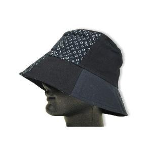 婦人帽子ハット キャップ 草木染絞B 綿100%|himeka-wa-samue