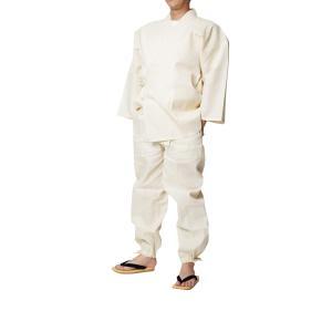 作務衣 夏用 メンズ しじら織り作務衣 さむえ 綿75%麻25% 日本製|himeka-wa-samue|04