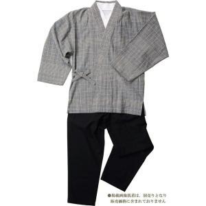樹亜羅-一杢 作務衣 さむえ -綿100% 格子グレー 寛-1 himeka-wa-samue