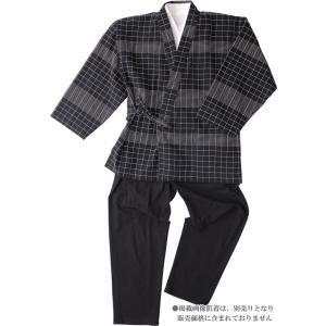樹亜羅-一杢 作務衣 さむえ -綿100% ブラック 寛-2 himeka-wa-samue