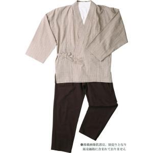 樹亜羅-一杢 作務衣 さむえ -綿100% ジャガード織ベージュ 寛-6 himeka-wa-samue