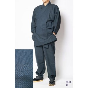作務衣 男性 飛龍-無地感刺し子織り作務衣(さむえ) himeka-wa-samue 03