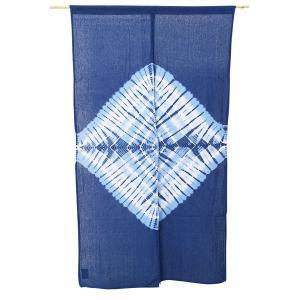 暖簾 のれん 綿100% 藍染 手絞り 手染め kn-15 himeka-wa-samue