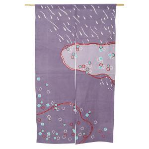 暖簾-のれん 綿100% 水たまり灰 n-1003 himeka-wa-samue
