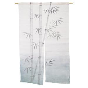 暖簾-のれん 麻100% 竹紺ぼかし n-1027|himeka-wa-samue