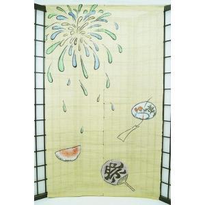 暖簾-のれん 麻100% 夏祭り  n-675 himeka-wa-samue