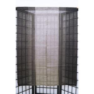 暖簾-のれん三連飾り 麻100% 染分け灰黒 120cm n-691|himeka-wa-samue