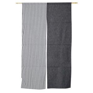 のれん ロング 暖簾 岡山 児島デニム 9オンス黒×ヒッコリーコンボn-778 日本製 himeka-wa-samue