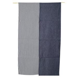 のれん ロング 暖簾 岡山 児島デニム 9オンス紺×ヒッコリーコンボn-780 日本製|himeka-wa-samue