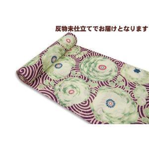 岡重-浴衣(ゆかた)反物  ぐるぐる菊 30Y-18|himeka-wa-samue