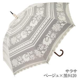 日傘 完全遮光 長傘 レース  エレガント二重張り 晴雨兼用 UVカット加工付 himeka-wa-samue 11