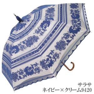 日傘 完全遮光 長傘 レース  エレガント二重張り 晴雨兼用 UVカット加工付 himeka-wa-samue 12
