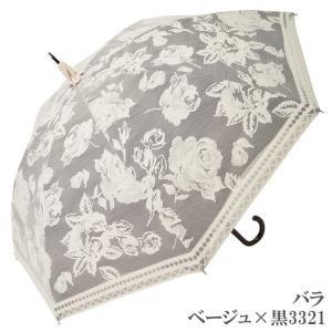 日傘 完全遮光 長傘 レース  エレガント二重張り 晴雨兼用 UVカット加工付 himeka-wa-samue 15