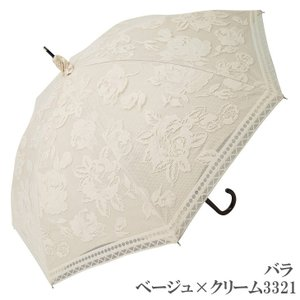日傘 完全遮光 長傘 レース  エレガント二重張り 晴雨兼用 UVカット加工付 himeka-wa-samue 16
