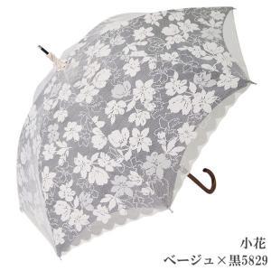 日傘 完全遮光 長傘 レース  エレガント二重張り 晴雨兼用 UVカット加工付 himeka-wa-samue 03