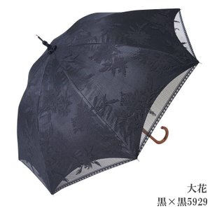 日傘 完全遮光 長傘 レース  エレガント二重張り 晴雨兼用 UVカット加工付 himeka-wa-samue 05