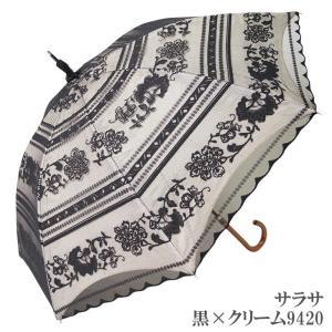 日傘 完全遮光 長傘 レース  エレガント二重張り 晴雨兼用 UVカット加工付 himeka-wa-samue 10