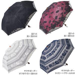 日傘 折りたたみ レース エレガント二重張り 晴雨兼用傘 UVカット加工付|himeka-wa-samue|04