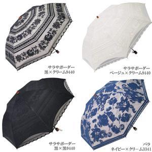 日傘 折りたたみ レース エレガント二重張り 晴雨兼用傘 UVカット加工付|himeka-wa-samue|05