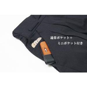 作務衣 パンツ 涼雅 綿45%麻55% 茶  S/M/L/LL|himeka-wa-samue|02