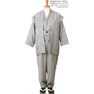 一杢 門-GATE 麻 和風スーツ 涼風-33 himeka-wa-samue