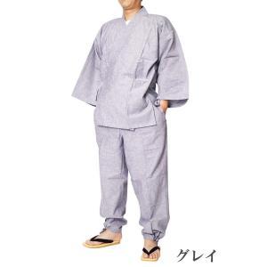 作務衣 メンズ 先染め作務衣 さむえ 綿45%麻55% S/M/L/LL|himeka-wa-samue|04