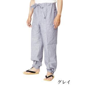 作務衣パンツ 先染混合 綿45%麻55% S/M/L/LL|himeka-wa-samue|04