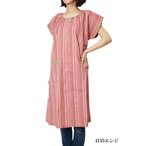 チュニック しじら織りサンドレス アッパッパー ワンピース 4135 日本製|himeka-wa-samue|02
