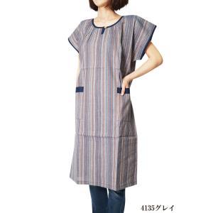 チュニック しじら織りサンドレス アッパッパー ワンピース 4135 日本製|himeka-wa-samue|04