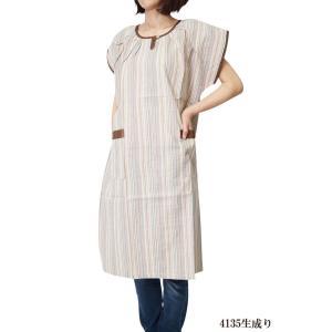 チュニック しじら織りサンドレス アッパッパー ワンピース 4135 日本製|himeka-wa-samue|05