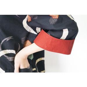 チュニック ワンピース 和柄 袖切り替えし付 0187-435 日本製|himeka-wa-samue|05