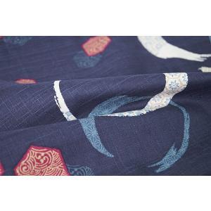 チュニック ワンピース 和柄 袖切り替えし付 0187-435 日本製|himeka-wa-samue|06