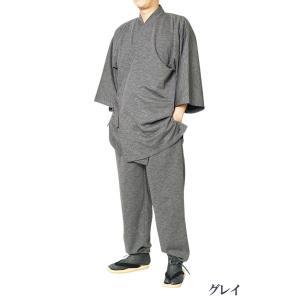 作務衣 メンズ スラブニット織り 作務衣 さむえ 当店オリジナル S/M/L/LL/3L/4L/5L himeka-wa-samue 07