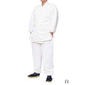 作務衣 冬用 スラブニット織り-裏フリース中綿入り作務衣 さむえ S〜7Lサイズ himeka-wa-samue 09