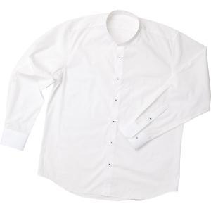 樹亜羅-一杢  立襟シャツ(スタンドカラーシャツ)白 himeka-wa-samue