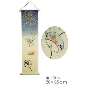 タペストリー和風 夏祭り 中20×85cm 麻100%|himeka-wa-samue