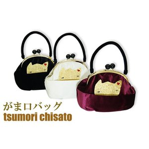 がま口バッグ ツモリチサト ベロア-tsumori chisato 和洋兼用|himeka-wa-samue