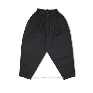 【かく宗】作務衣ゆったりパンツ-綿100% 黒|himeka-wa-samue