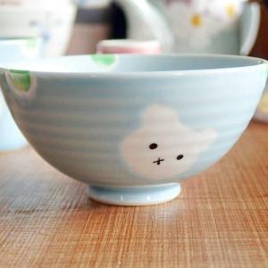 波佐見焼 有田焼 ミニ茶碗 ふんわりブルー くま お茶碗 ご飯茶碗 飯碗 こども用 キッズ 子供 お...