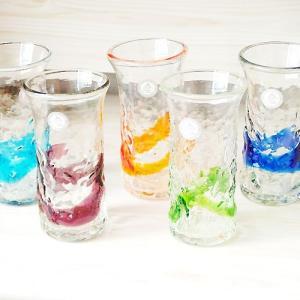 ★内容:琉球ガラス でこ一口ビアグラス  ★サイズ:Φ6×11.5cm 満水180cc ★素材:ガラ...