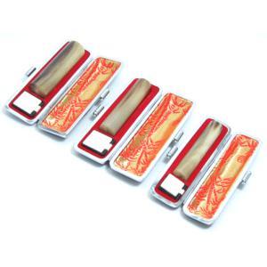 印鑑 実印 はんこ オランダ水牛3本セットケース付 印鑑セット15mm/13.5mm/12mm 実印 銀行印 認印 男性 女性 化粧箱付も可 日用品|himurokobo