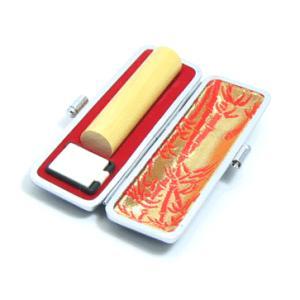 印鑑 実印  銀行印 本つげ印鑑13.5mmサイズ はんこ(ケース付)送料無料も デザイン確認無料|himurokobo